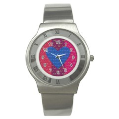 Butterfly Heart Pattern Stainless Steel Watch by Simbadda