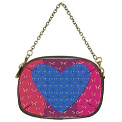 Butterfly Heart Pattern Chain Purses (one Side)  by Simbadda