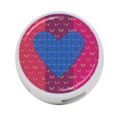 Butterfly Heart Pattern 4 Port Usb Hub (two Sides)  by Simbadda