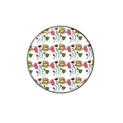 Handmade Pattern With Crazy Flowers Hat Clip Ball Marker (4 Pack) by Simbadda