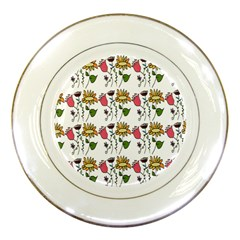 Handmade Pattern With Crazy Flowers Porcelain Plates by Simbadda