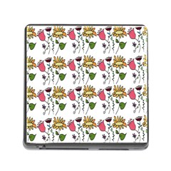 Handmade Pattern With Crazy Flowers Memory Card Reader (square) by Simbadda