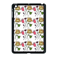 Handmade Pattern With Crazy Flowers Apple Ipad Mini Case (black) by Simbadda