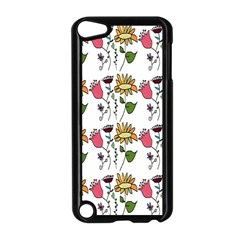 Handmade Pattern With Crazy Flowers Apple Ipod Touch 5 Case (black) by Simbadda