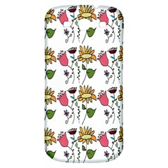 Handmade Pattern With Crazy Flowers Samsung Galaxy S3 S Iii Classic Hardshell Back Case by Simbadda