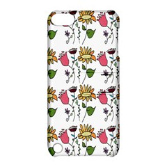 Handmade Pattern With Crazy Flowers Apple Ipod Touch 5 Hardshell Case With Stand by Simbadda