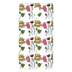 Handmade Pattern With Crazy Flowers Galaxy Note 4 Back Case