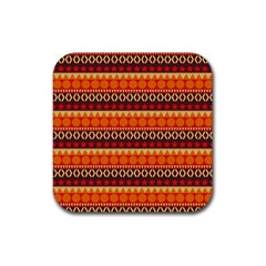 Abstract Lines Seamless Pattern Rubber Coaster (square)  by Simbadda