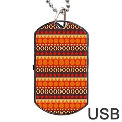 Abstract Lines Seamless Pattern Dog Tag Usb Flash (one Side) by Simbadda