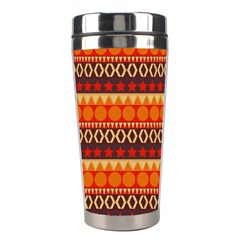 Abstract Lines Seamless Pattern Stainless Steel Travel Tumblers by Simbadda