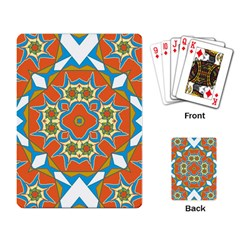 Digital Computer Graphic Geometric Kaleidoscope Playing Card by Simbadda