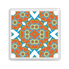 Digital Computer Graphic Geometric Kaleidoscope Memory Card Reader (square)  by Simbadda