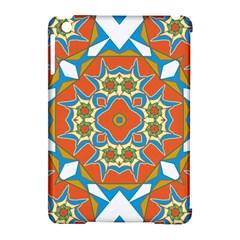 Digital Computer Graphic Geometric Kaleidoscope Apple Ipad Mini Hardshell Case (compatible With Smart Cover) by Simbadda