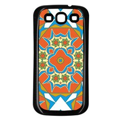 Digital Computer Graphic Geometric Kaleidoscope Samsung Galaxy S3 Back Case (black) by Simbadda