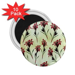 Vintage Style Seamless Floral Wallpaper Pattern Background 2 25  Magnets (10 Pack)  by Simbadda