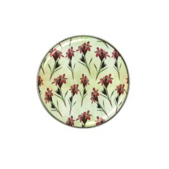 Vintage Style Seamless Floral Wallpaper Pattern Background Hat Clip Ball Marker (4 Pack) by Simbadda