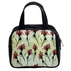 Vintage Style Seamless Floral Wallpaper Pattern Background Classic Handbags (2 Sides) by Simbadda