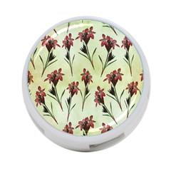 Vintage Style Seamless Floral Wallpaper Pattern Background 4 Port Usb Hub (two Sides)  by Simbadda