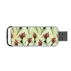 Vintage Style Seamless Floral Wallpaper Pattern Background Portable Usb Flash (one Side) by Simbadda