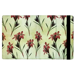 Vintage Style Seamless Floral Wallpaper Pattern Background Apple Ipad 2 Flip Case by Simbadda