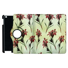 Vintage Style Seamless Floral Wallpaper Pattern Background Apple Ipad 3/4 Flip 360 Case by Simbadda