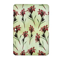 Vintage Style Seamless Floral Wallpaper Pattern Background Samsung Galaxy Tab 2 (10 1 ) P5100 Hardshell Case  by Simbadda