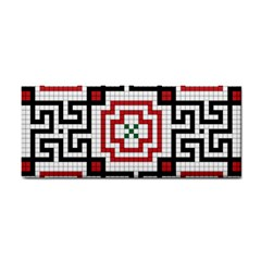 Vintage Style Seamless Black, White And Red Tile Pattern Wallpaper Background Cosmetic Storage Cases by Simbadda