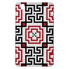 Vintage Style Seamless Black, White And Red Tile Pattern Wallpaper Background Samsung Galaxy Tab Pro 8 4 Hardshell Case by Simbadda