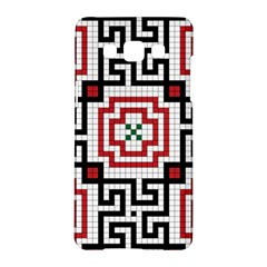 Vintage Style Seamless Black, White And Red Tile Pattern Wallpaper Background Samsung Galaxy A5 Hardshell Case  by Simbadda