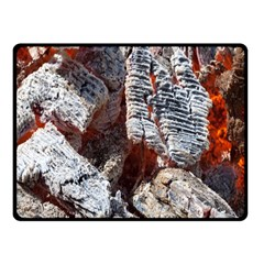 Wooden Hot Ashes Pattern Fleece Blanket (small) by Simbadda