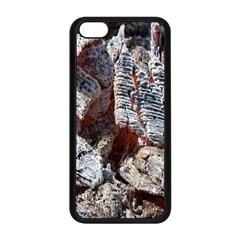Wooden Hot Ashes Pattern Apple Iphone 5c Seamless Case (black) by Simbadda