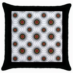 Pearly Pattern Half Tone Background Throw Pillow Case (black) by Simbadda
