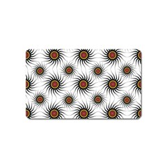 Pearly Pattern Half Tone Background Magnet (Name Card) by Simbadda