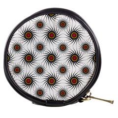 Pearly Pattern Half Tone Background Mini Makeup Bags by Simbadda