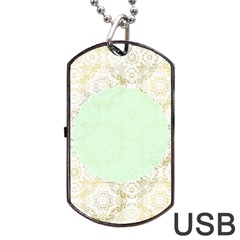 Seamless Abstract Background Pattern Dog Tag Usb Flash (one Side) by Simbadda