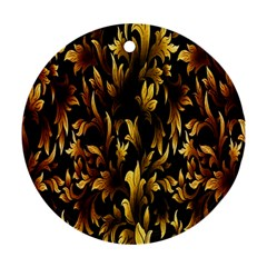 Loral Vintage Pattern Background Ornament (round) by Simbadda