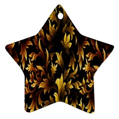 Loral Vintage Pattern Background Ornament (star) by Simbadda