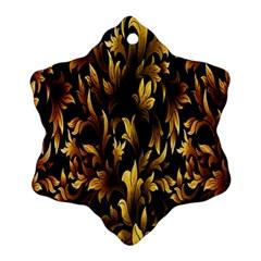 Loral Vintage Pattern Background Ornament (snowflake) by Simbadda