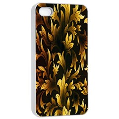 Loral Vintage Pattern Background Apple Iphone 4/4s Seamless Case (white) by Simbadda
