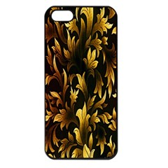 Loral Vintage Pattern Background Apple Iphone 5 Seamless Case (black) by Simbadda