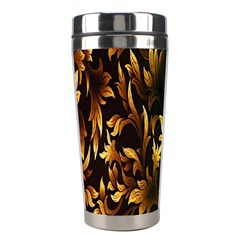 Loral Vintage Pattern Background Stainless Steel Travel Tumblers by Simbadda