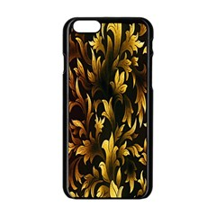 Loral Vintage Pattern Background Apple Iphone 6/6s Black Enamel Case by Simbadda