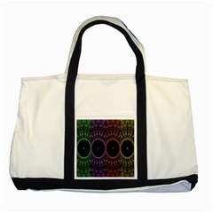 Digital Colored Ornament Computer Graphic Two Tone Tote Bag by Simbadda