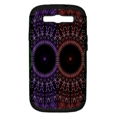 Digital Colored Ornament Computer Graphic Samsung Galaxy S Iii Hardshell Case (pc+silicone) by Simbadda