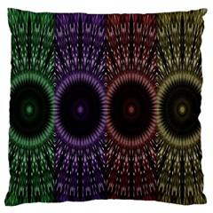 Digital Colored Ornament Computer Graphic Large Flano Cushion Case (two Sides) by Simbadda