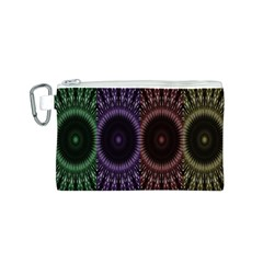 Digital Colored Ornament Computer Graphic Canvas Cosmetic Bag (s) by Simbadda