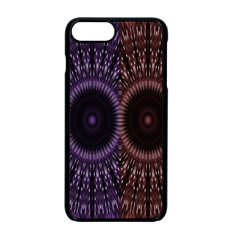 Digital Colored Ornament Computer Graphic Apple iPhone 7 Plus Seamless Case (Black) by Simbadda