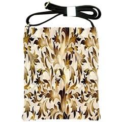 Floral Vintage Pattern Background Shoulder Sling Bags by Simbadda