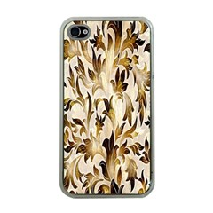 Floral Vintage Pattern Background Apple Iphone 4 Case (clear) by Simbadda