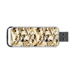 Floral Vintage Pattern Background Portable Usb Flash (two Sides) by Simbadda